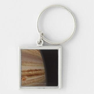 Jupiter Silver-Colored Square Key Ring