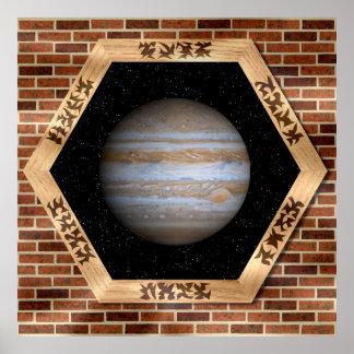 Jupiter through a Window - Poster