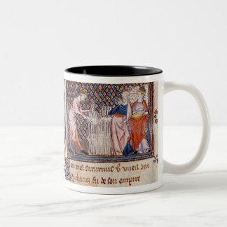 Jupiter versus Saturn: Saturn teaching Two-Tone Coffee Mug