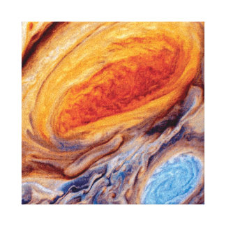 Jupiter's Great Red Spot Stretched Canvas Print