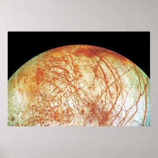 Jupiter's Moon Europa Poster