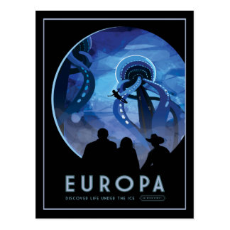 Jupiters Moon Europa Space Tourism Postcard