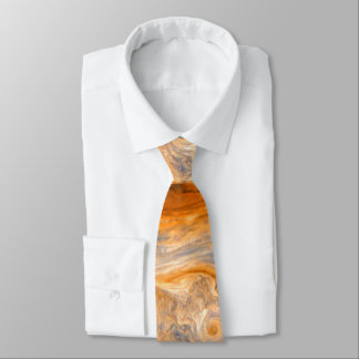 Jupiter's Swirling Clouds Tie