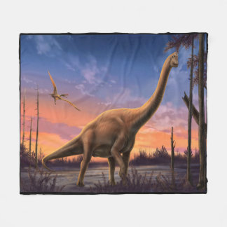 Jurassic Dinosaurs Fleece Blanket