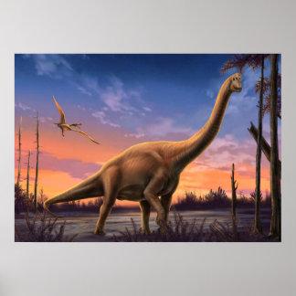 Jurassic Dinosaurs Poster