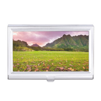 Jurassic Sunset Business Card Holder