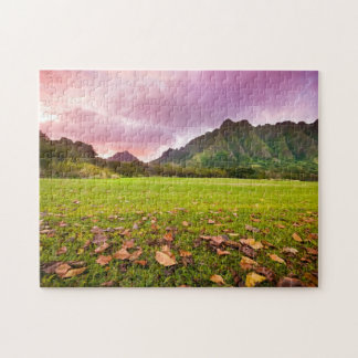 Jurassic Sunset Jigsaw Puzzle
