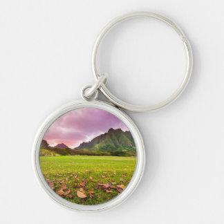 Jurassic Sunset Key Ring