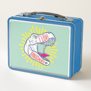Jurassic World | I Love Dinosaurs Metal Lunch Box