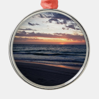Jurien Bay Sunset Western australia Silver-Colored Round Decoration