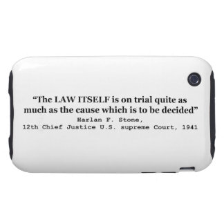 Jury Nullification by Justice Harlan F. Stone 1941 Tough iPhone 3 Cover