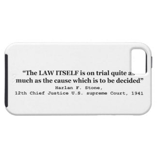 Jury Nullification by Justice Harlan F. Stone 1941 iPhone 5 Case