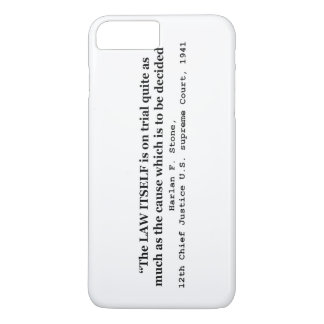 Jury Nullification by Justice Harlan F. Stone 1941 iPhone 7 Plus Case