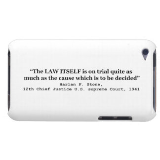 Jury Nullification by Justice Harlan F. Stone 1941 iPod Touch Case-Mate Case