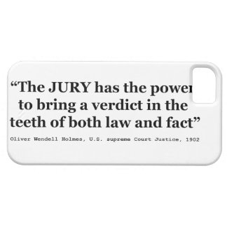 Jury Nullification Quote by Oliver Wendell Holmes iPhone 5 Covers