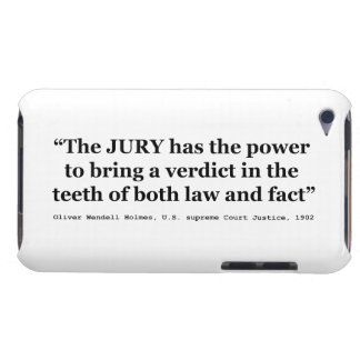 Jury Nullification Quote by Oliver Wendell Holmes iPod Case-Mate Case