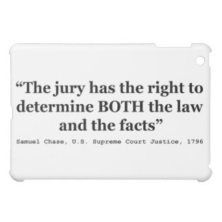 Jury Nullification Quote Justice Samuel Smith 1796 iPad Mini Cases