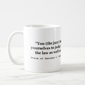 Jury Nullification State of Georgia vs Brailsford Basic White Mug