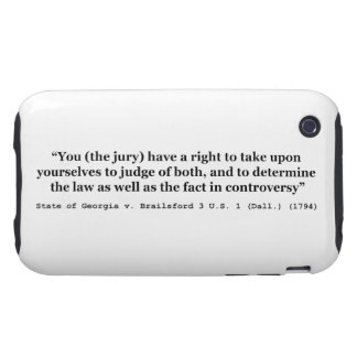Jury Nullification State of Georgia vs Brailsford iPhone 3 Tough Cases