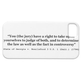 Jury Nullification State of Georgia vs Brailsford iPhone 5 Covers