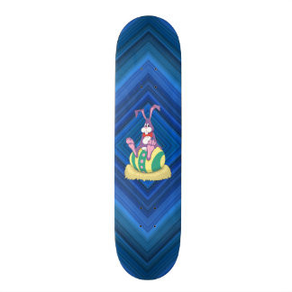 Jus Chillin' Easter Bunny on decorated egg Skateboard Deck