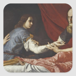 Jusepe de Ribera- Isaac Blessing Jacob Stickers