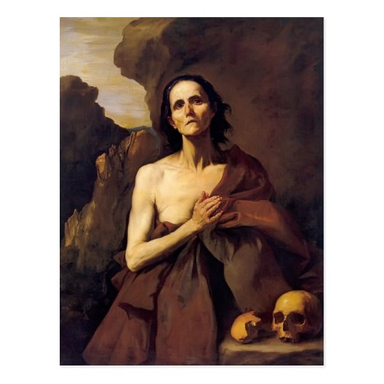 Jusepe de Ribera- St. Mary of Egypt Postcard