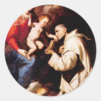 Jusepe Ribera-Madonna with Christ Child & St Bruno Sticker