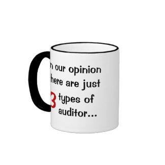 Just 3 Types of Auditor - Audit Joke Ringer Mug