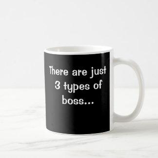 Just 3 Types of Boss - Funny Boss Saying Basic White Mug