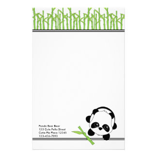Just a Bite of Bamboo Stationery Paper