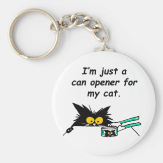 JUST A CAN OPENER FOR MY CAT BASIC ROUND BUTTON KEY RING
