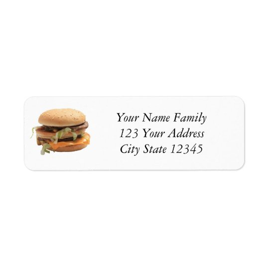 Just a classic hamburger return address label