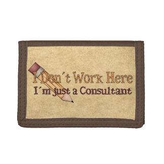 Just a Consultant Tri-fold Wallet