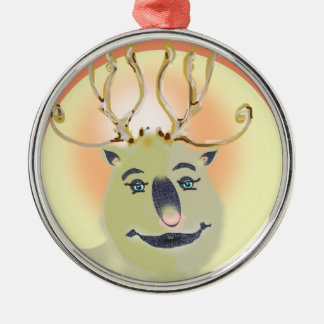 Just a deer Silver-Colored round decoration