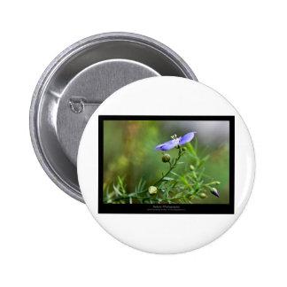 Just a flower – Blue flower 002 6 Cm Round Badge