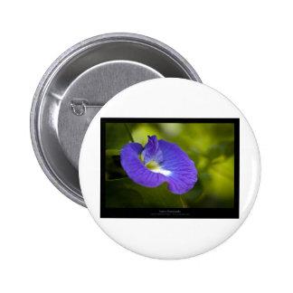 Just a flower – Blue flower 006 6 Cm Round Badge