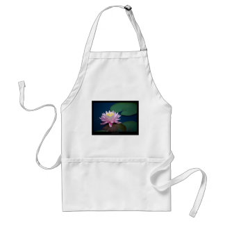 Just a flower – Pink waterlily flower 008 Adult Apron
