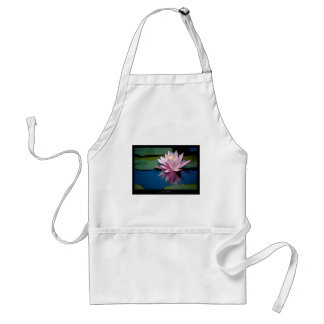 Just a flower – Pink waterlily flower 009 Adult Apron