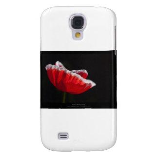 Just a flower – Red poppy flower 014 Galaxy S4 Case