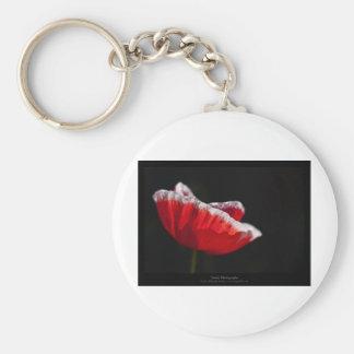 Just a flower – Red poppy flower 014 Key Chain