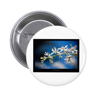 Just a flower – White flower 004 6 Cm Round Badge