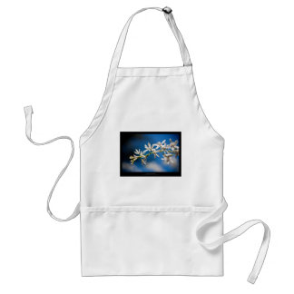 Just a flower – White flower 004 Adult Apron