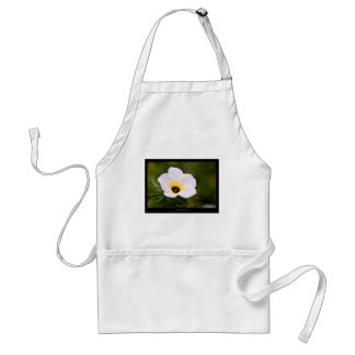 Just a flower – White flower 019 Adult Apron