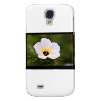 Just a flower – White flower 019 Galaxy S4 Case