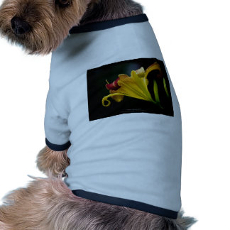 Just a flower – Yellow lily flower 016 Doggie T-shirt