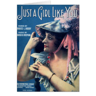 Just A Girl Like You Greeting Cards