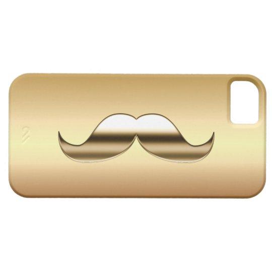 Just A Gold Moustache iPhone 5 Case