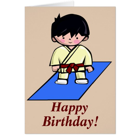 Just a Gup Martial Arts birthday card