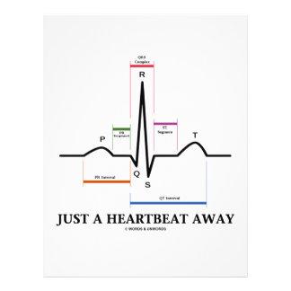 Just A Heartbeat Away EKG ECG Personalized Flyer